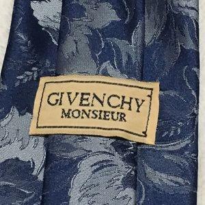 Givenchy vintage men's blue floral tie